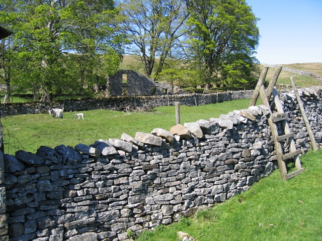 Enclosure and stile at Thorns
