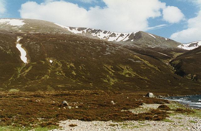 Looking towards Einich Cairn from Loch Einich