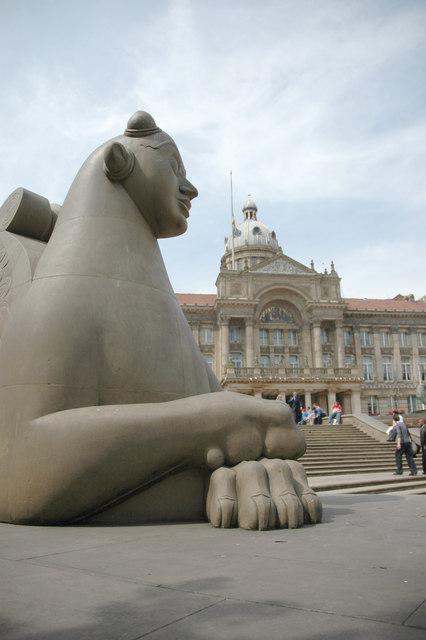 Statue in Victoria Square.