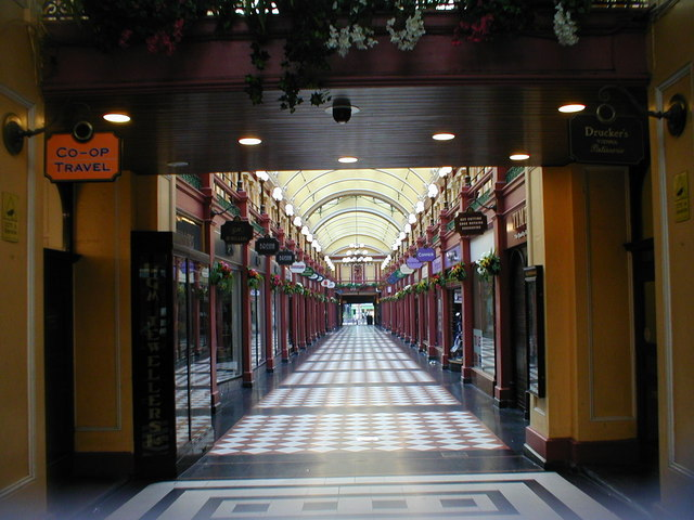 Great Western Arcade looking towards Snow Hill Station