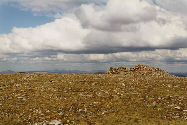 The summit of Beinn Udlamain