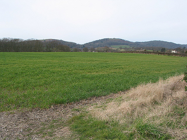 Farmland towards the Malverns