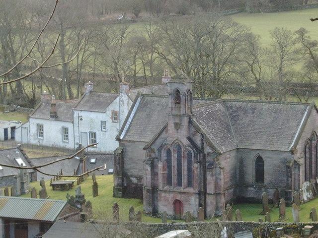 Tynron Churchyard, seen from the hill