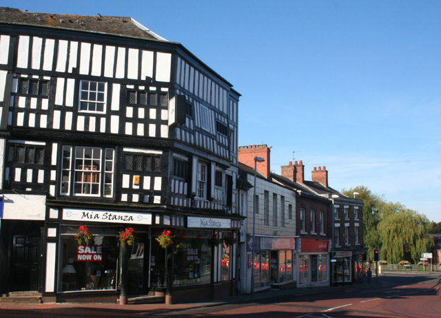 End of the High Street, Nantwich
