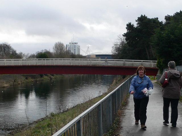 Footbridge over the Taff