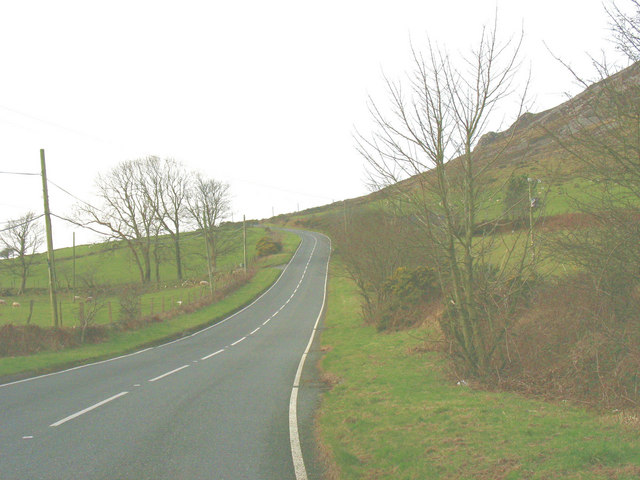 Hill climb - the B4417 west of Llanaelhaearn village
