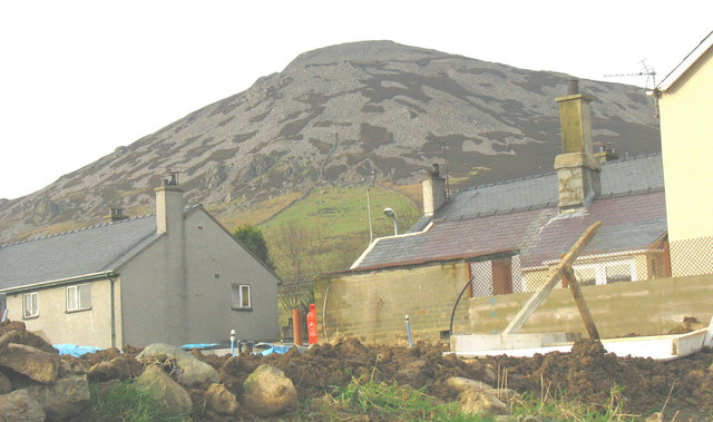Under the shadow of Tre'r Ceiri - houses in Llanaelhaearn village