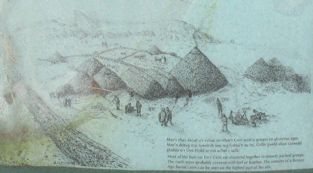An artist's impression of Tre'r Ceiri in the Iron Age