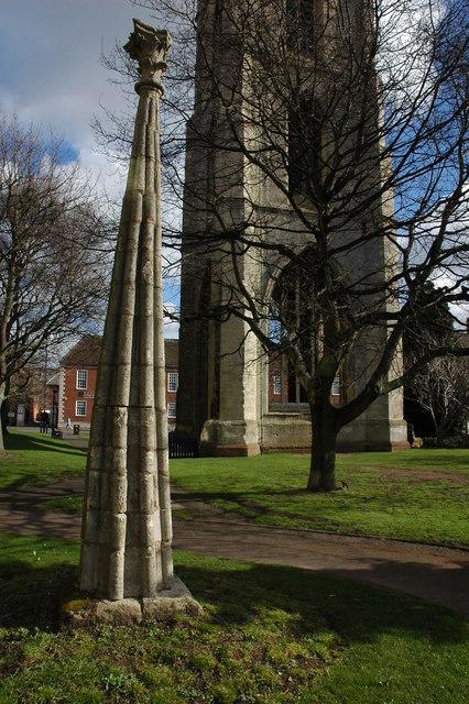 Spire top, St Andrew's Garden, Worcester