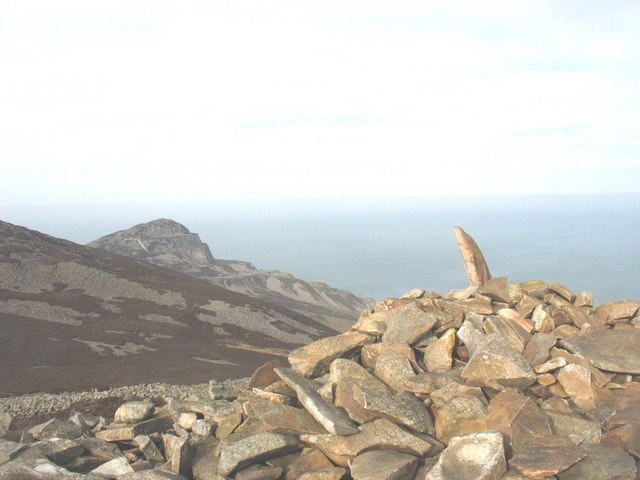 The summit cairn on Tre'r Ceiri