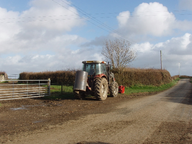 Tractor at Higher Trossell
