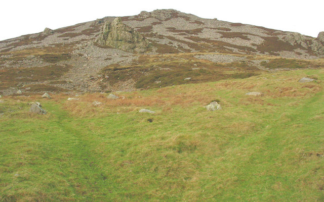 Intake land on the lower slopes of Tre'r Ceiri