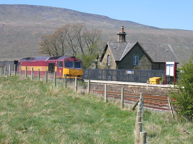 EWS 60043 entering Ribblehead station