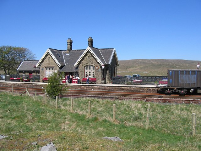 Ribblehead station and enthusiasts