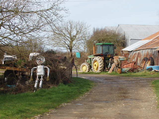 Lower Exe farmyard with tin man