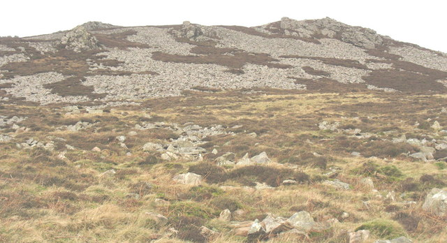 The scree-clad slopes of Tre'r Ceiri