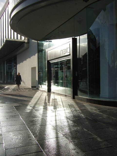 Entrance to Next, Exeter