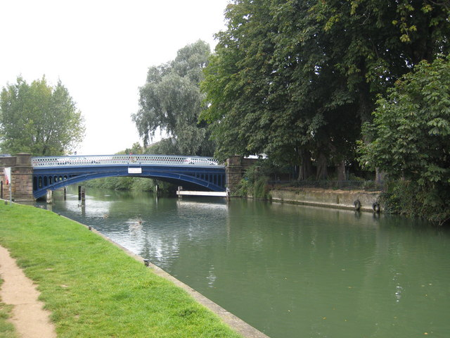 Osney Bridge over the Thames at Oxford from downstream