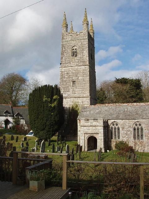Jacobstow Church and churchyard