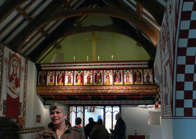 Inside St Teilo's Church, St Fagan