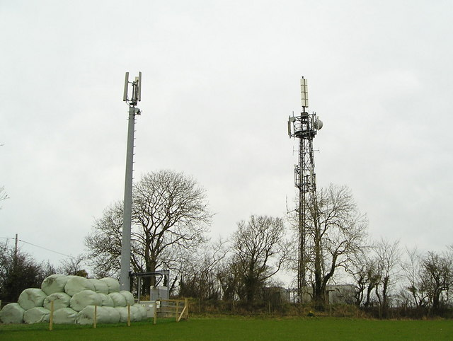 Masts at Aberbanc