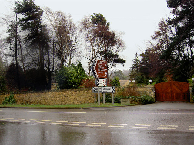 A635 junction near Cannon Hall Cawthorne