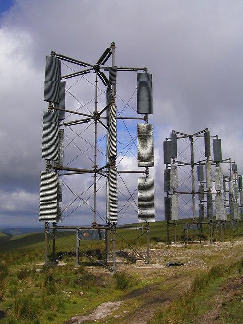 Derelict wind turbines
