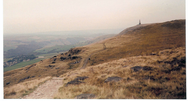 Stoodley Pike from Pennine Way
