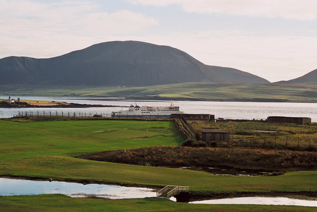Stromness Golf Course and Hoy Sound