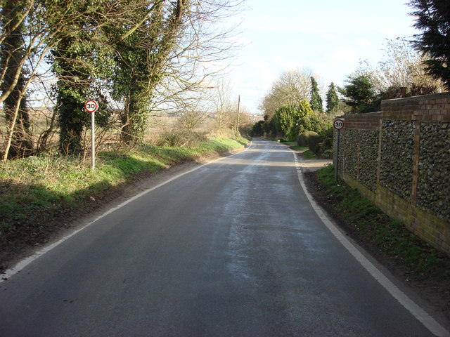 Hall Road, looking east