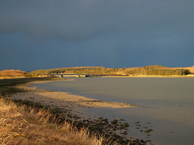 Rain clouds over the river Ythan