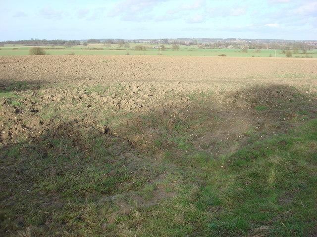 Farmland to the north of Borley