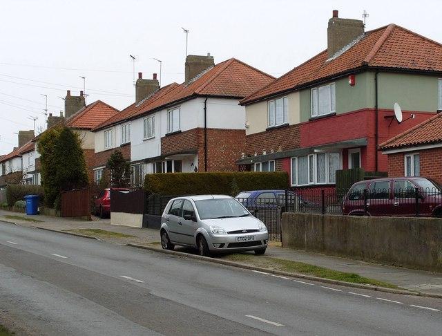 Pre WWII semi detached houses, Long John Hill