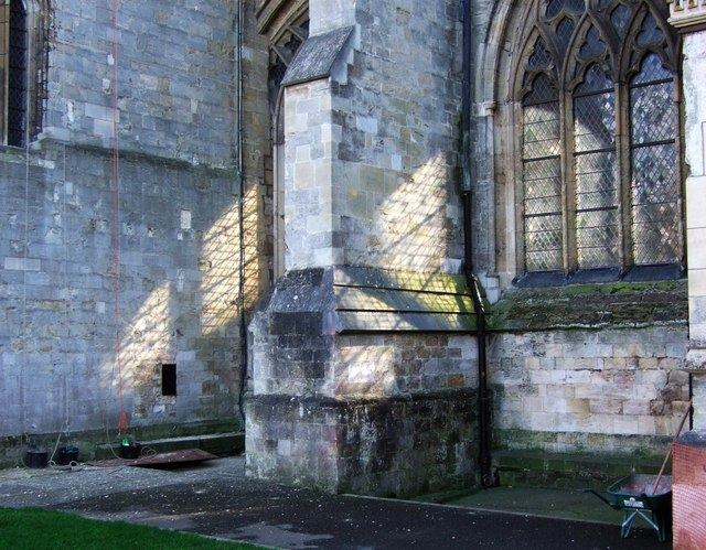 Sunlight on the cathedral walls