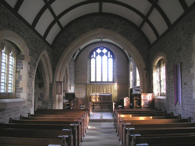 St. Peter's Church at Mansergh - interior