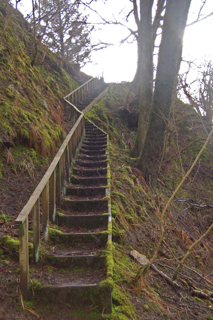 Flight of steps in Glen Rha