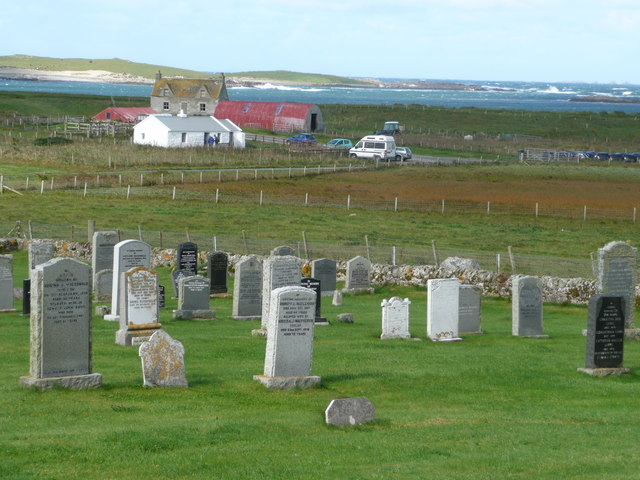 Balranald Visitor Centre from the cemetery