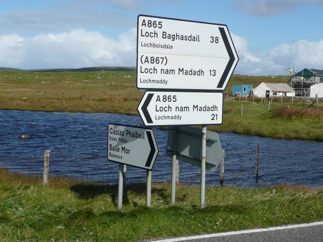 Signpost at Bayhead