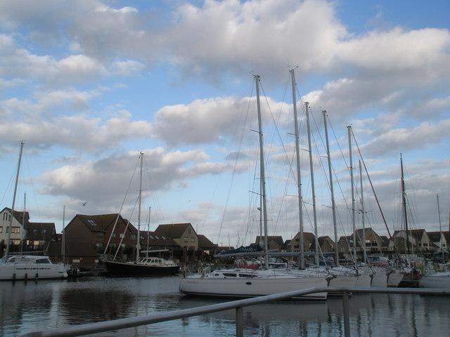 Yachts in Port Solent Marina