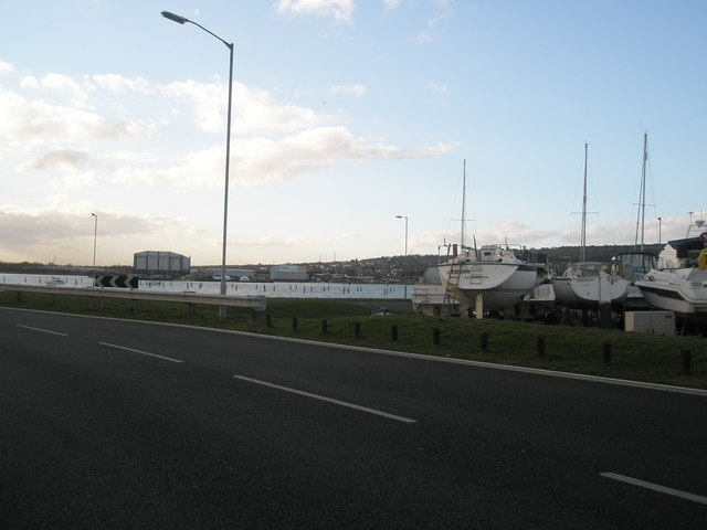 Edge of the boatyard
