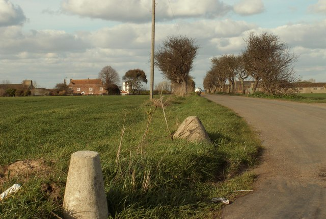 The approach to Bocking Hall farm