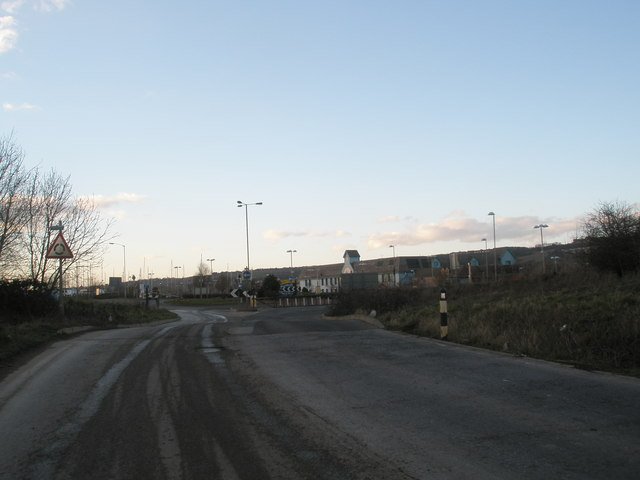 "View from ""The Tip"" to Port Solent Roundabout"