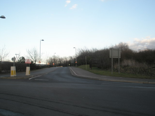 Road back to Paulsgrove from Port Solent