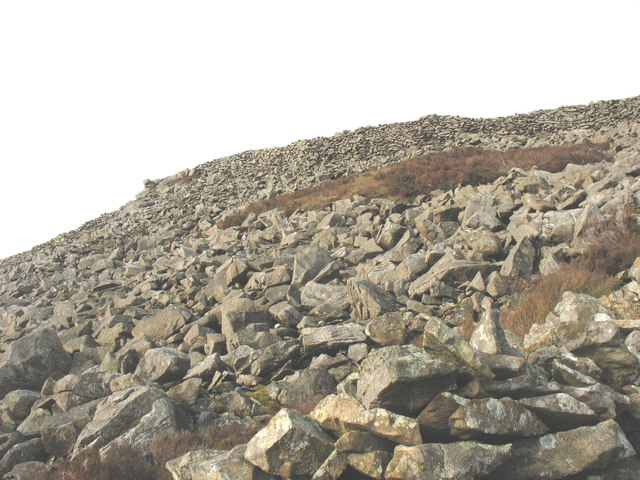 Part of the eastern ramparts of Tre'r Ceiri Iron Age Fort