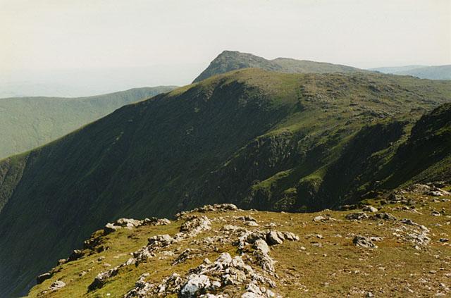 The Aran ridge from Aran Benllyn