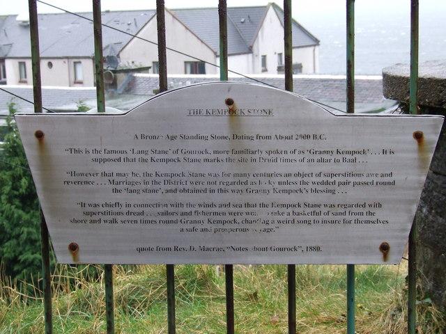 Kempock Stone plaque