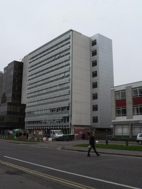 Bournemouth: Studland House (scaffolding dismantled)