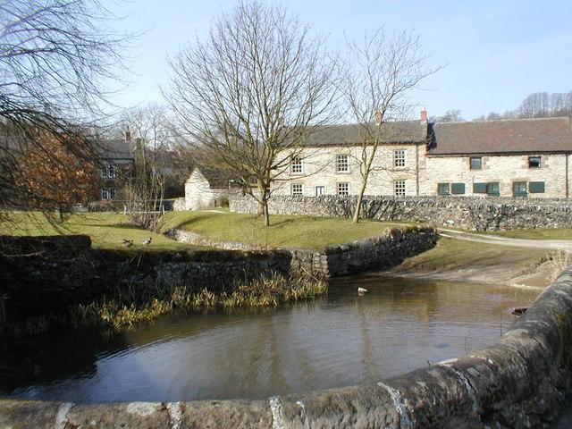 Parwich village pond.