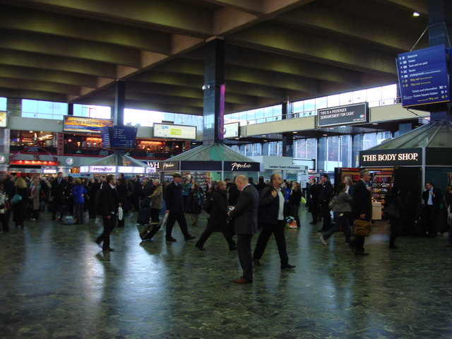Euston station concourse