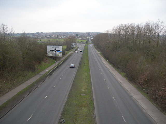 A228 Approaching Four Elms Roundabout